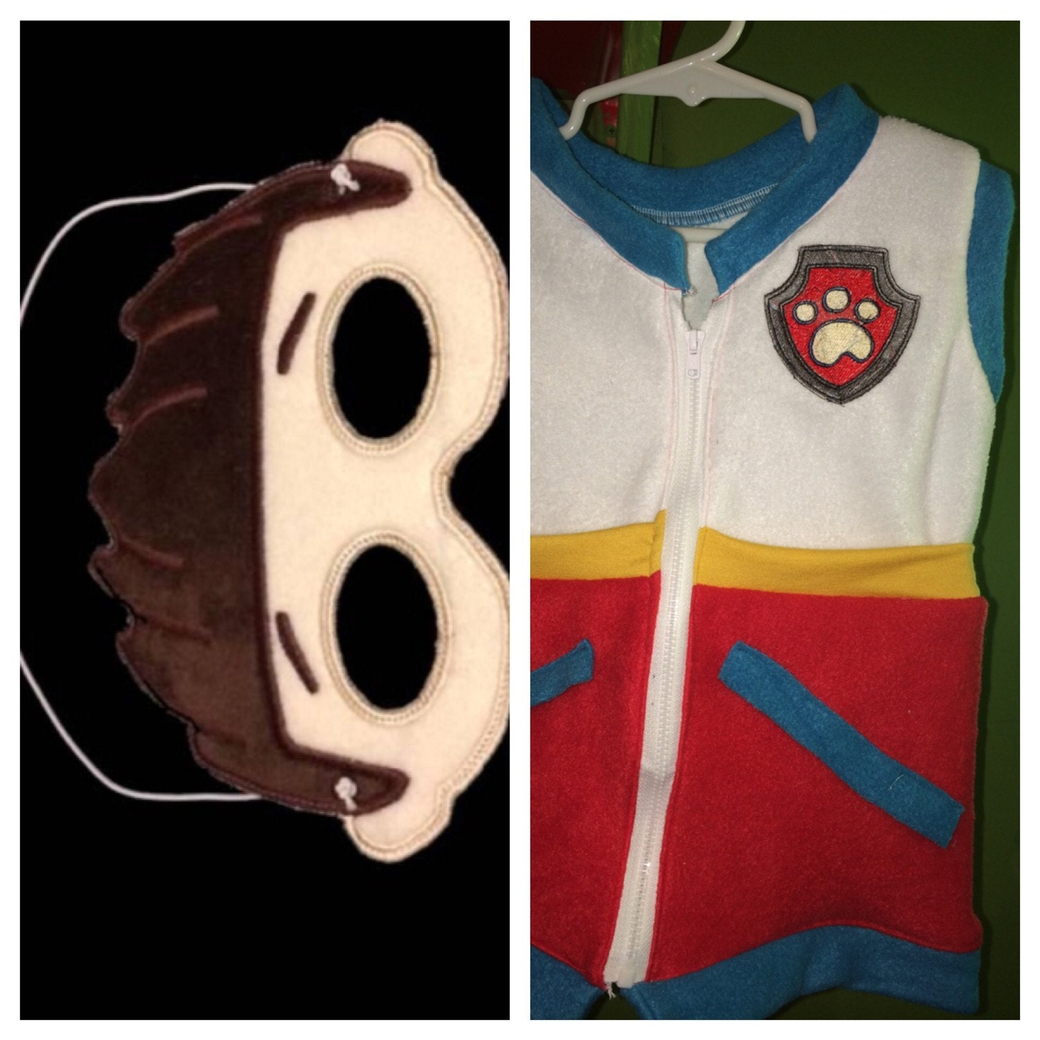 Adult Paw Patrol Vest Costume Optional Mask By
