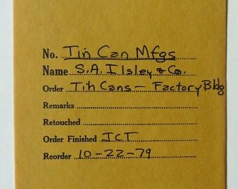 2 negatives for Ilsley Co New York tin can manufacturer 1888 antique advertising postal cover envelope