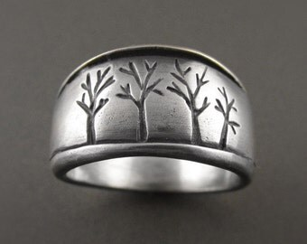 The Dark Forest Sterling Silver Handmade Ring