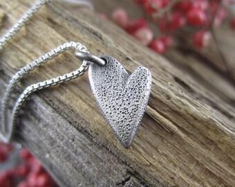 Handmade Charm - Sterling Silver Heart