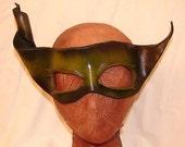 "Leather Masks for Halloween Mardi Gras Comedia Del Arte Masquerade OOAK ""EARTH SPIRIT"" Handmade by Debbie Leather"