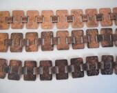 Vintage Etched Metal Bracelet Blank