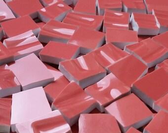 Mosaic Tiles--Salmon--100 Tiles