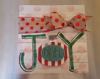 Palette style slat board Christmas sign
