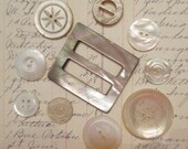 Vintage Buckles and Buttons - Mother Of Pearl/ Pearl