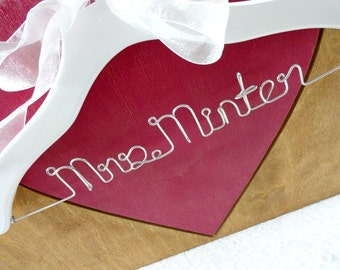 White Coat Hanger - Unique Name Hanger - Original Hanger - Custom Hangers - White Hangers - Shower Gift - White Wedding - Grad Gift