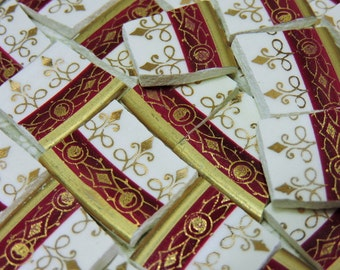 Mosaic Tiles - BRiLLiANT BuRGuNDY and GOLD - China Mosaic Tiles