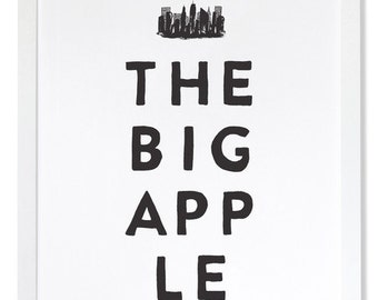 The Big Apple Letterpress Art Print