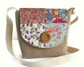 Liberty of London Patchwork Crossbody Satchel - Bag  - Adjustable Strap -  Corduroy