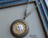 Steampunk Necklace- 1/2 Price Sale- Shabby Chic Rose by Timeless Trinkets