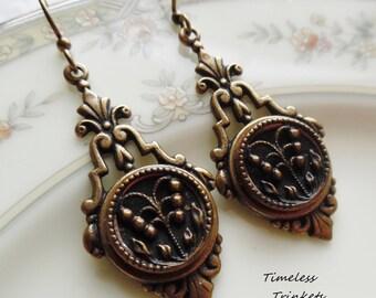 Antique Button Earrings, Cerelia