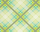 Summer Plaid Turquoise from the Up Parasol collection by Heather Bailey for FreeSpirit