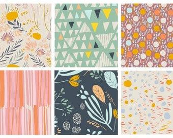 6 FAT QUARTERS - Morning Walk - Art Gallery Fabrics - Leah Duncan - Bundle - Southwest Desert Cactus