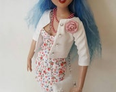 "SUMMER ROSES set for Agatha Primrose 13"" Tonner fashion body"