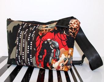 Space Madness Crossbody Bag with Pretzel Lining