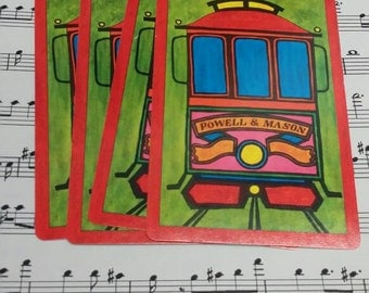 Vintage Trolley Car Playing Cards- Set of 10