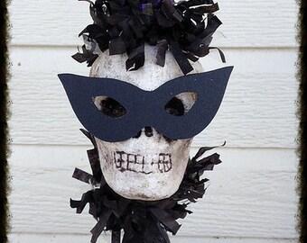 Halloween Decoration Funny Skull on Candlestick Halloween Ornament Halloween Decor