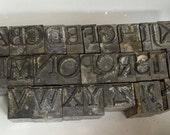 Letterpress Alphabet Typeface Print Blocks Complete 33 pc set Large Discounted Read