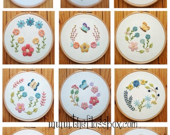 Butterfly Florals Embroidery Pattern Collection