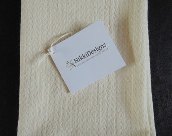 Organic Cotton  Dish Cloth/TeaTowel, Natural, Hand Towel