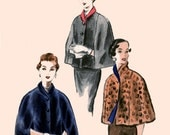 1950s Rare Evening Capes w/ Shawl Collar and Arm vents Vogue 8059 Easy to Make Size Medium Bust 32-34