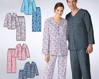 OOP It's So Easy Misses, Mens or Teens Sleepwear Top and Pants Loungewear Simplicity 2328 Size XS- XL Uncut