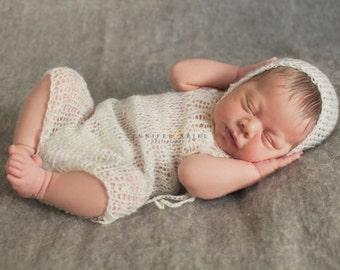 Romper & Hat, Newborn Photo Props, U Choose Color Size
