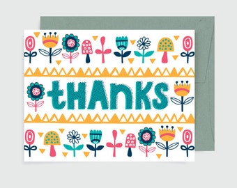 Thank You Card - Thanks Flowers
