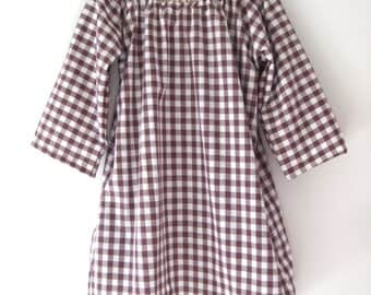 Sale Anais Valentina Day Dress-Gingham Brown
