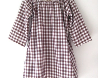 Spring Sale Anais Valentina Day Dress-Gingham Brown
