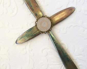 Patina cross ornament