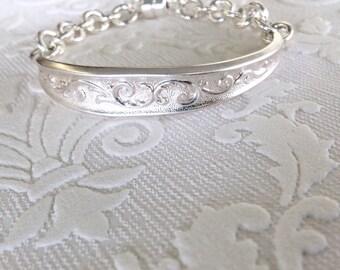 Ornate Spoon Handle ID Bracelet