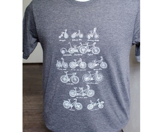 SALE Cycles of Life illustrated bike t-shirt MEN's/Unisex