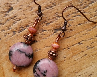 Maria...Lampwork vintage style earrings by Pixie Willow Designs