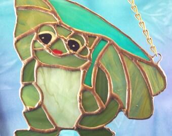 Handmade Stained Glass Frog Suncatcher