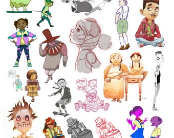 Character design collage 2012-2013