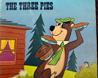 Vintage Children's Book Yogi Bear and the Three Pies Get 5 Books for 10 dollars