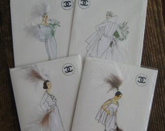 Coco Chanel wonderful white fashion cards 5x7