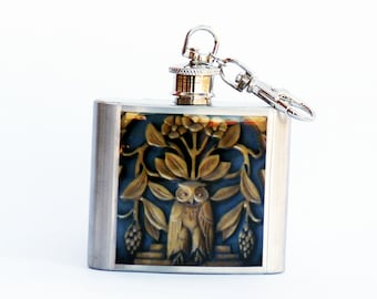 FLASK, OWL FLASK, 2oz. Flask