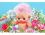 kewpie flowers print 5 x 7 PICK ME