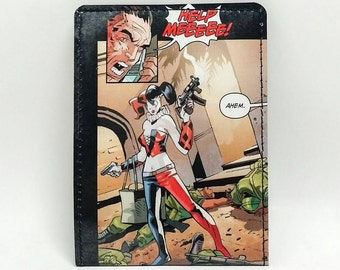 Sewn Comic Book Wallet - Suicide Squad - Harley Quinn Design 12