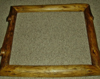 Rustic Log Picture Frame-Figured Lodgepole Pine