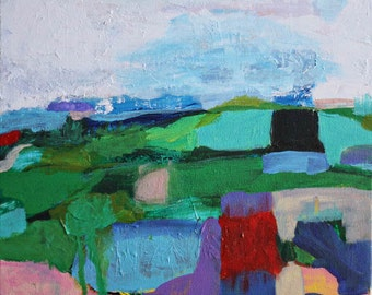landscape 17 - original abstract painting