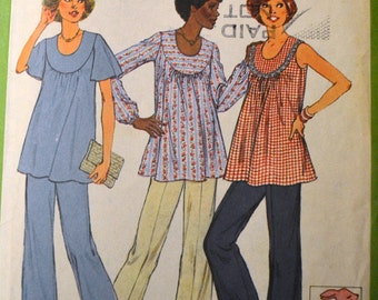 Vintage Sewing Pattern Simplicity 8197  Maternity Blouse and Baby Toy Size 10 Bust 32 inch