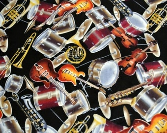 Fabric Musical  Instruments By the Half Yard Davids Textiles