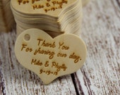 Personalized Wooden Tags Set of 25