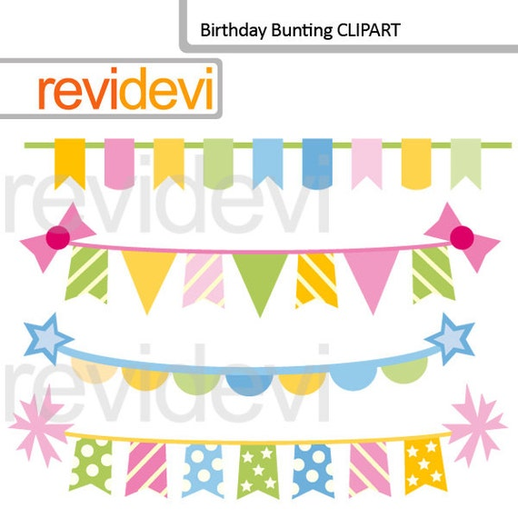 Birthday Bunting Banners Clipart Hanging Banners Clip By