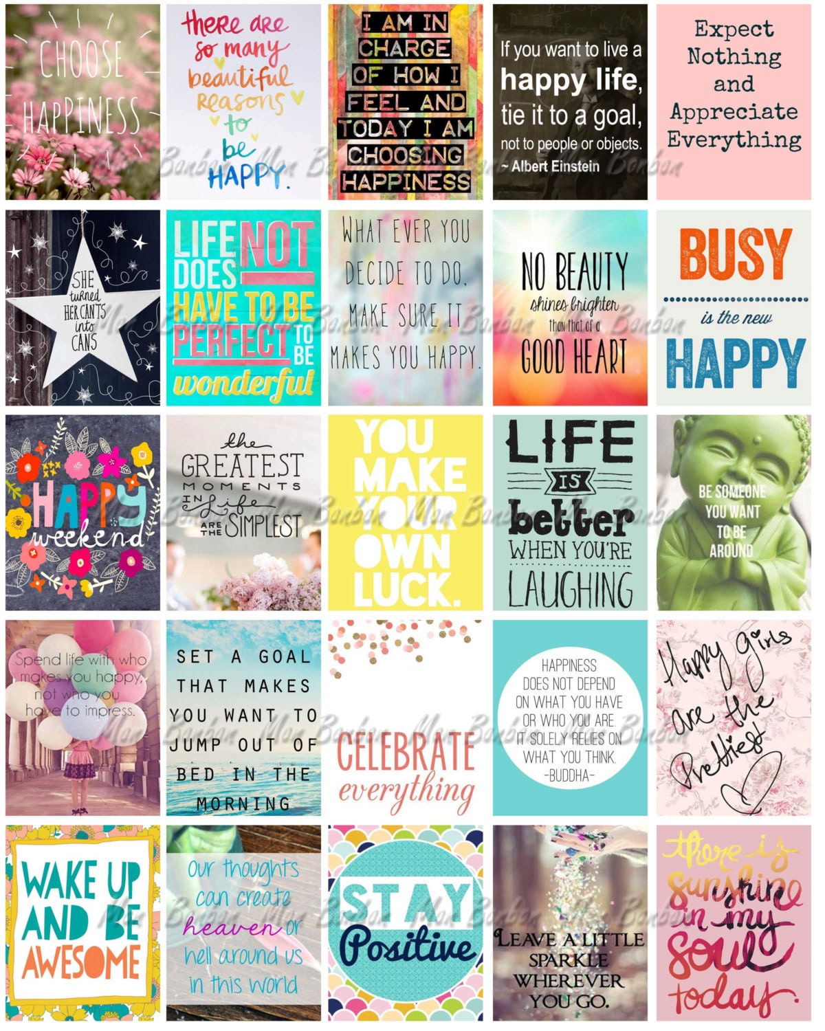 Calendar Planning Quotes : Happy inspirational and motivational printable sticker