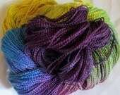 Hand painted Cotton Boucle Yarn - 315 yds.  RIVER of LIGHTS