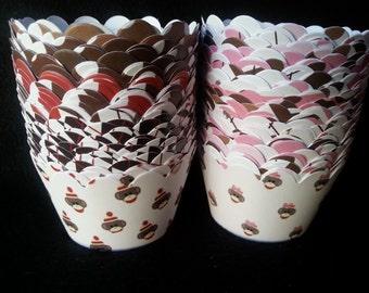 Boy or Girl Sock Monkey Cupcake Wrappers (12)